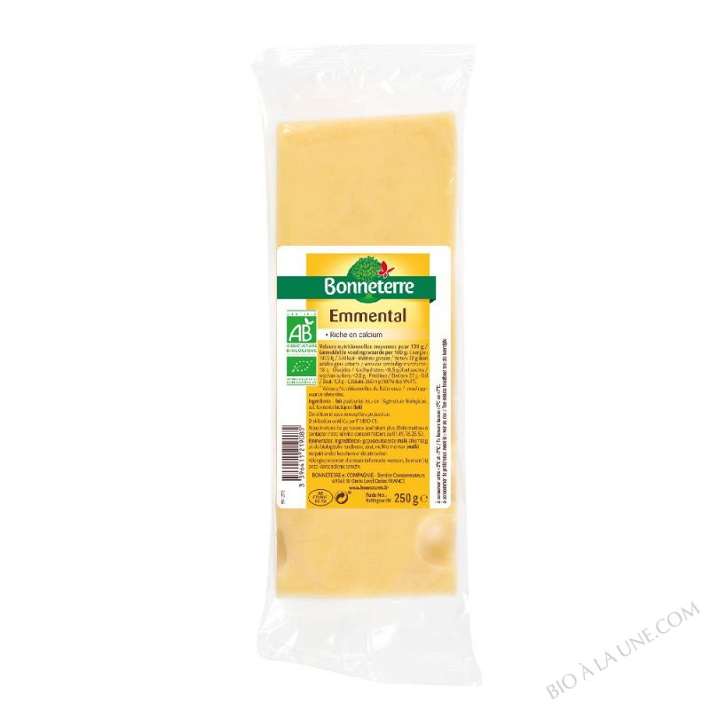 EMMENTAL AU LAIT CRU PORTION - 250 G