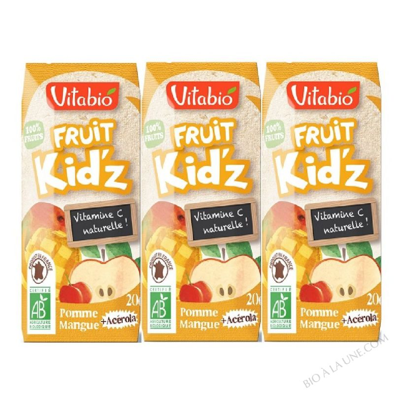 Boissons Fruit Kid'z Pomme Mangue Acerola 3x20cl