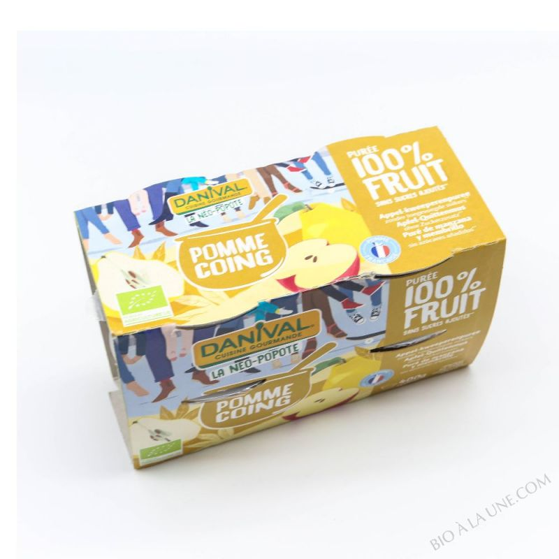 Compote 100 % fruit POMME-COING - 4X100G
