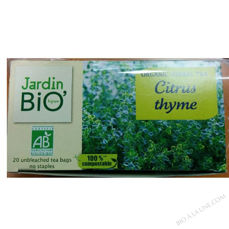 Infusion thym citron - 20 sachets
