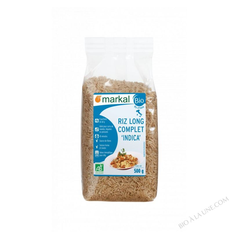 Riz long complet Indica 500g