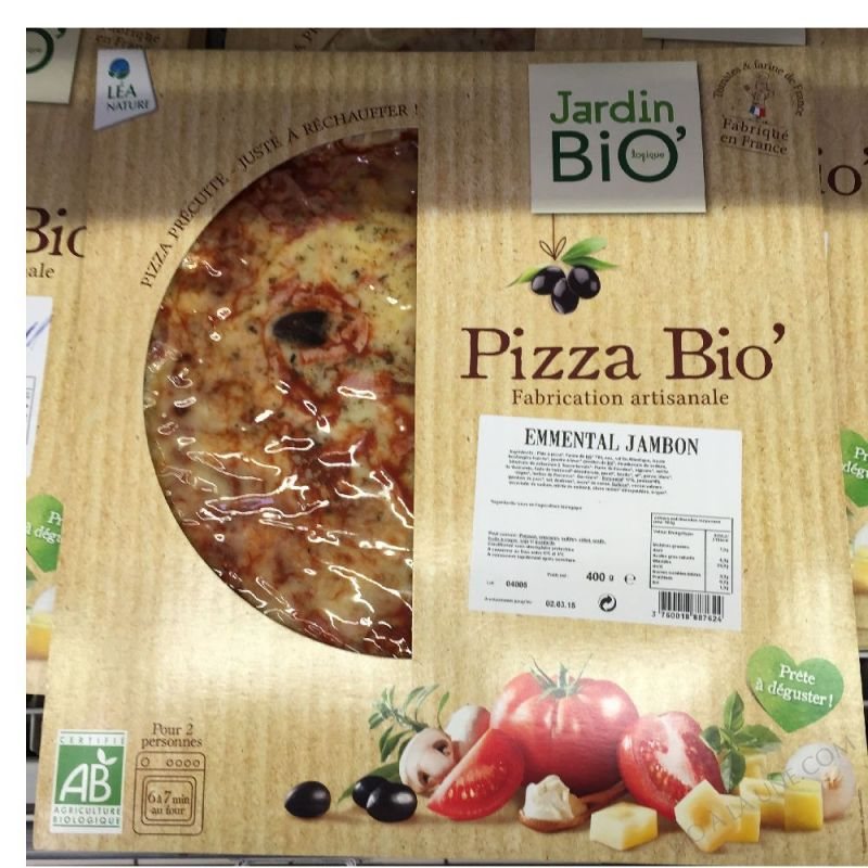 Pizza bio jambon