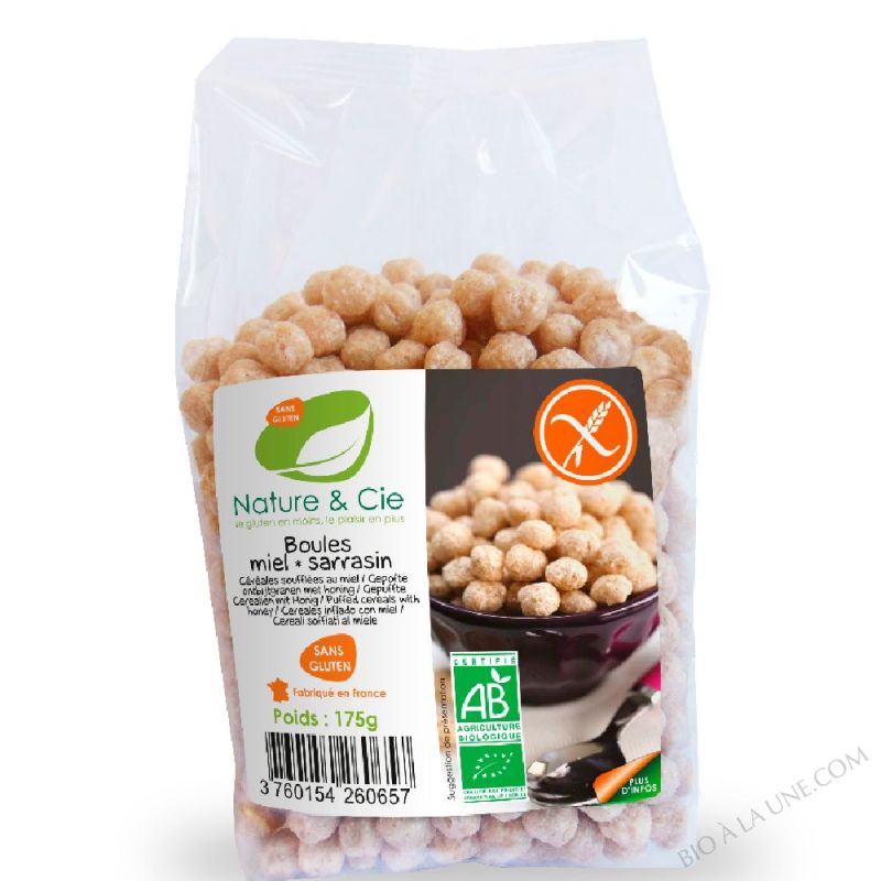 BOULES MIEL SARRASIN 175G NATURE & COMPAGNIE
