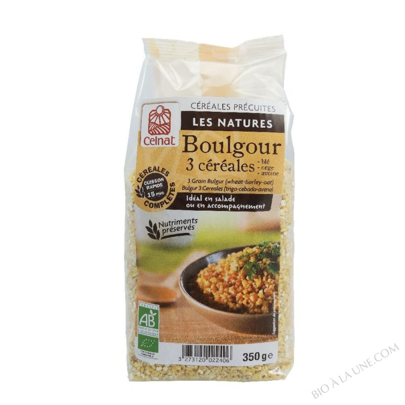 BOULGOUR 3 CEREALES 350G CELNAT