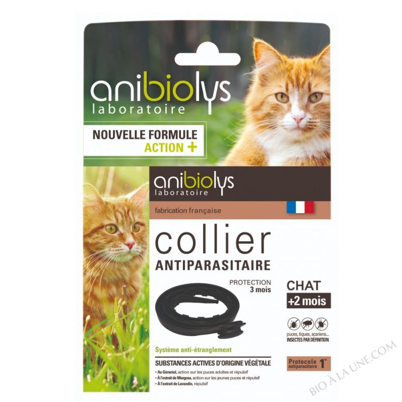 Collier Antiparasites 35cm Chat