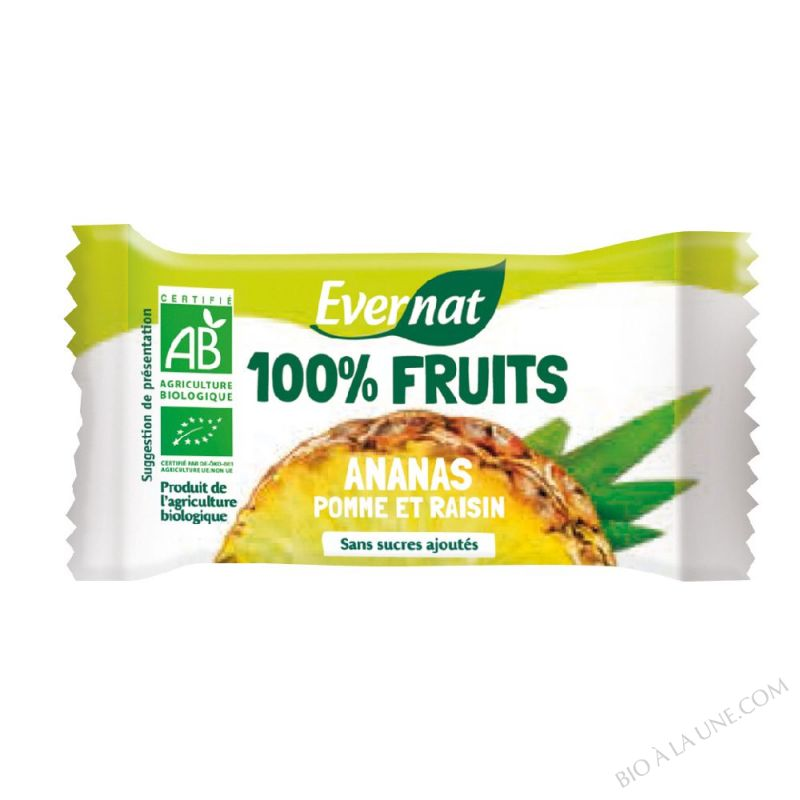 Barre De Fruits Seches Ananas bio 30g