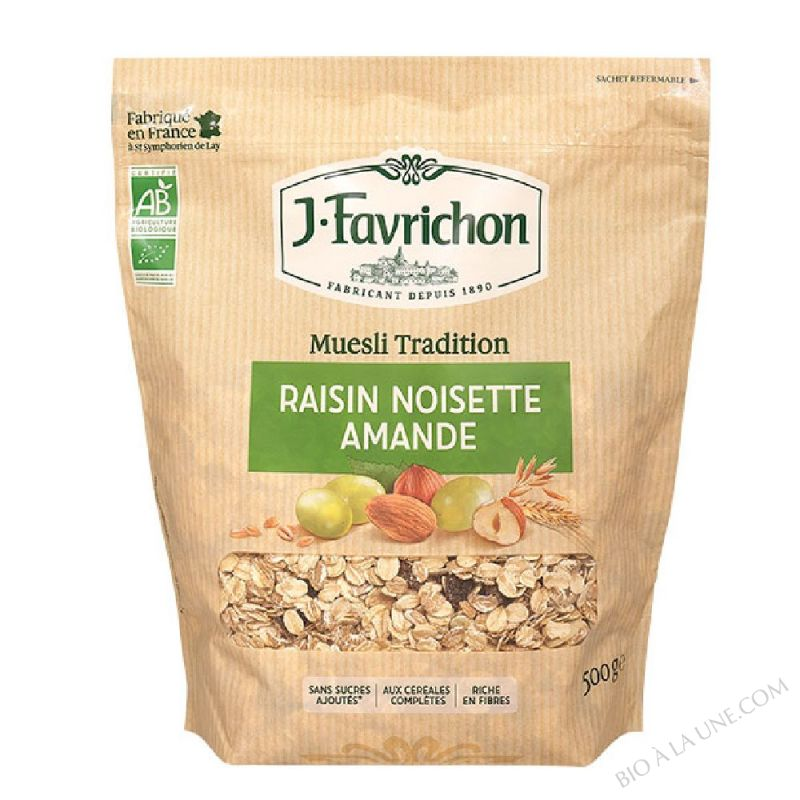 MUESLI TRADITION RAISIN NOISETTE AMANDE - 500 g