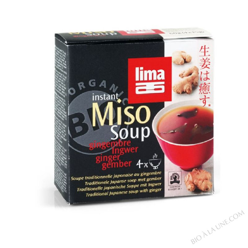 Instant miso soup gingembre