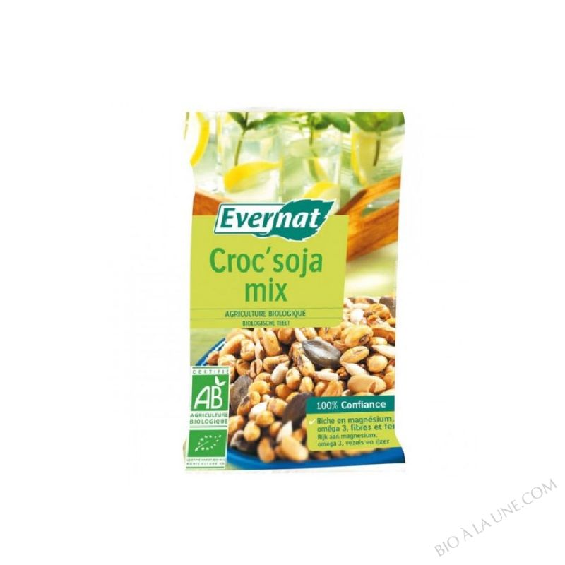 CROC SOJA MIX(MIX DE GRAINES GRILLEES SALEES) - 55 G