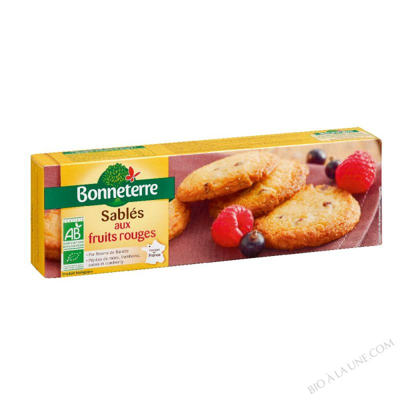 SABLES AUX FRUITS ROUGES (PUR BEURRE) 150GR
