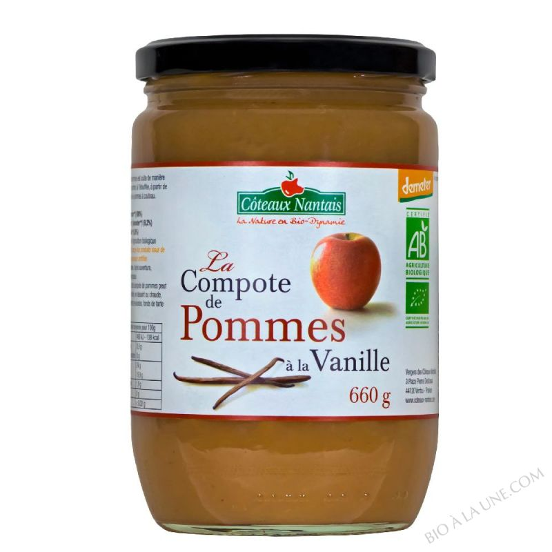 Compote pommes vanille 660 g