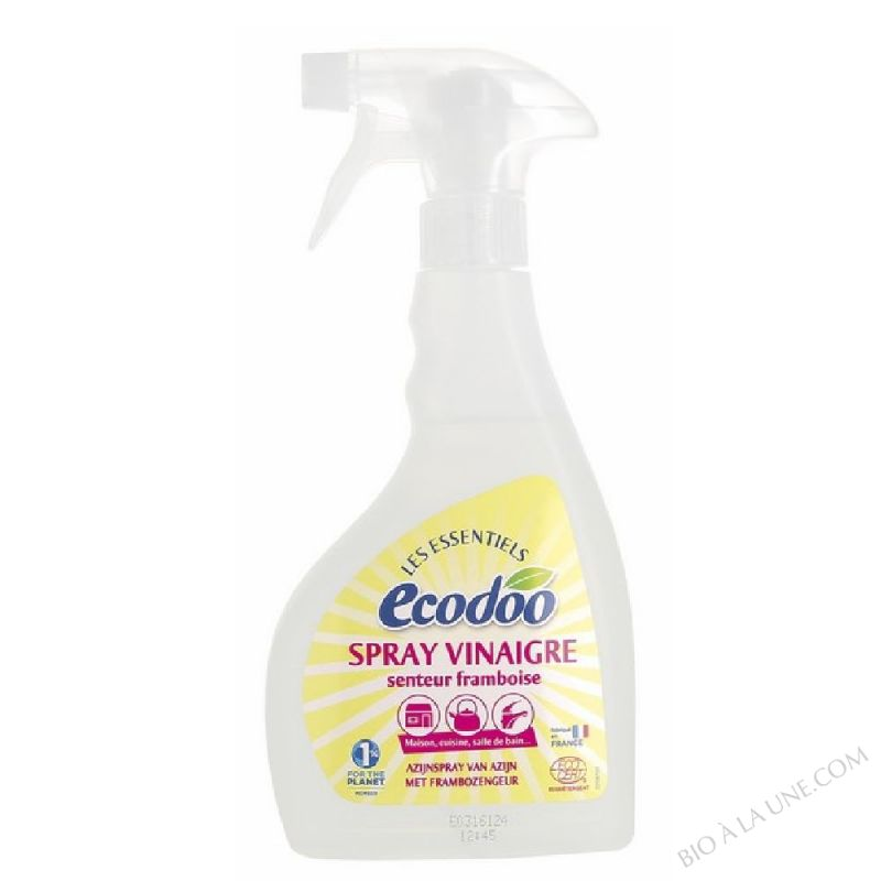 spray vinaigre alcool blanc senteur framboise 500ml ecodoo bio la une. Black Bedroom Furniture Sets. Home Design Ideas