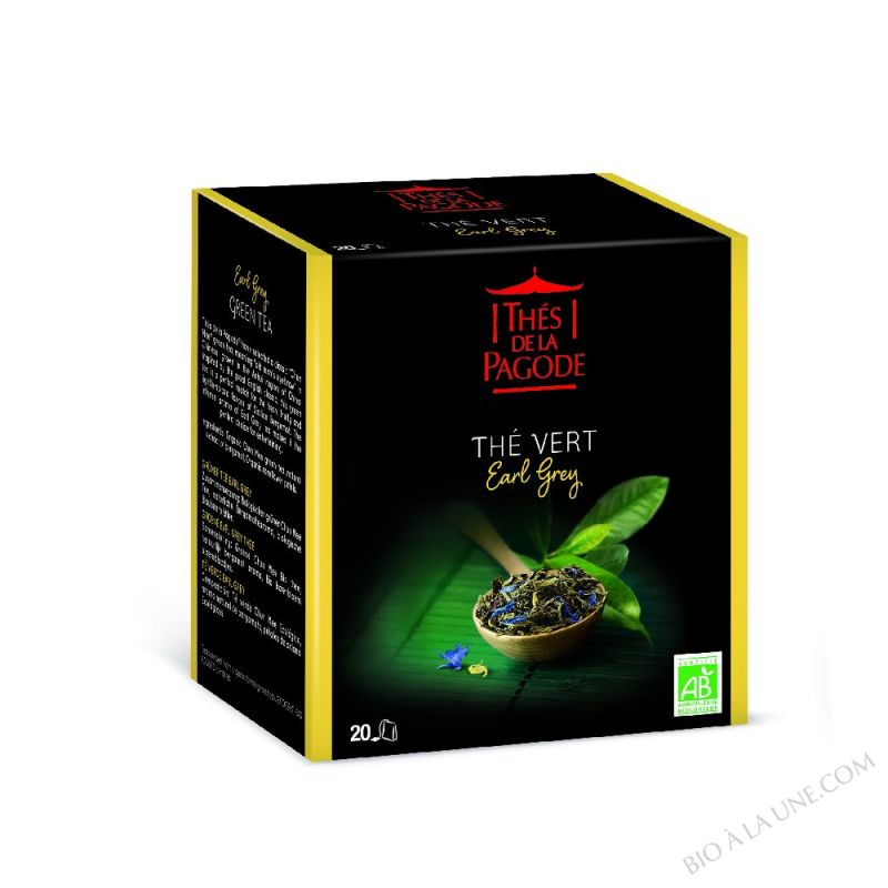 Thé vert Earl Grey bio 20 infusettes - 40g
