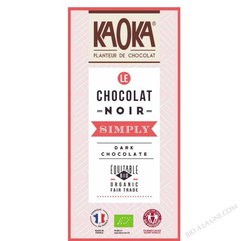 Tablette simply Dark (Noir 61%) 80g