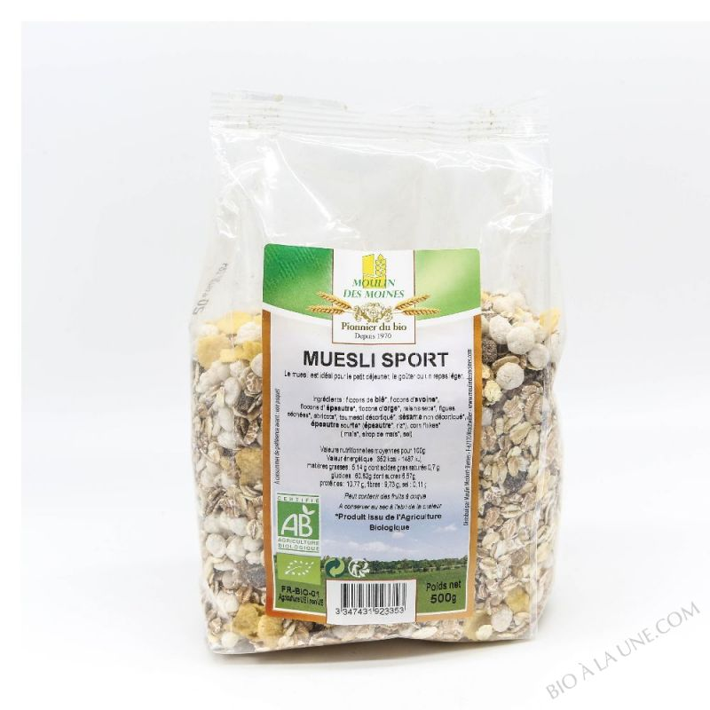 Muesli Sport (fruits et graines) bio - 500 g