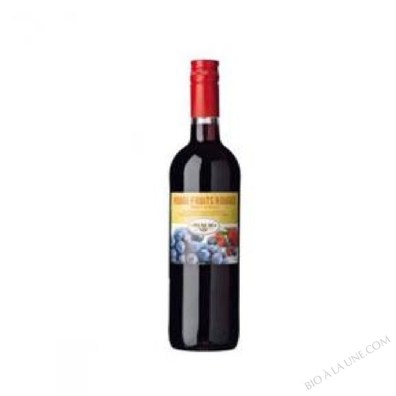 Vin Rouge Fruits rouges Bio 75 cL
