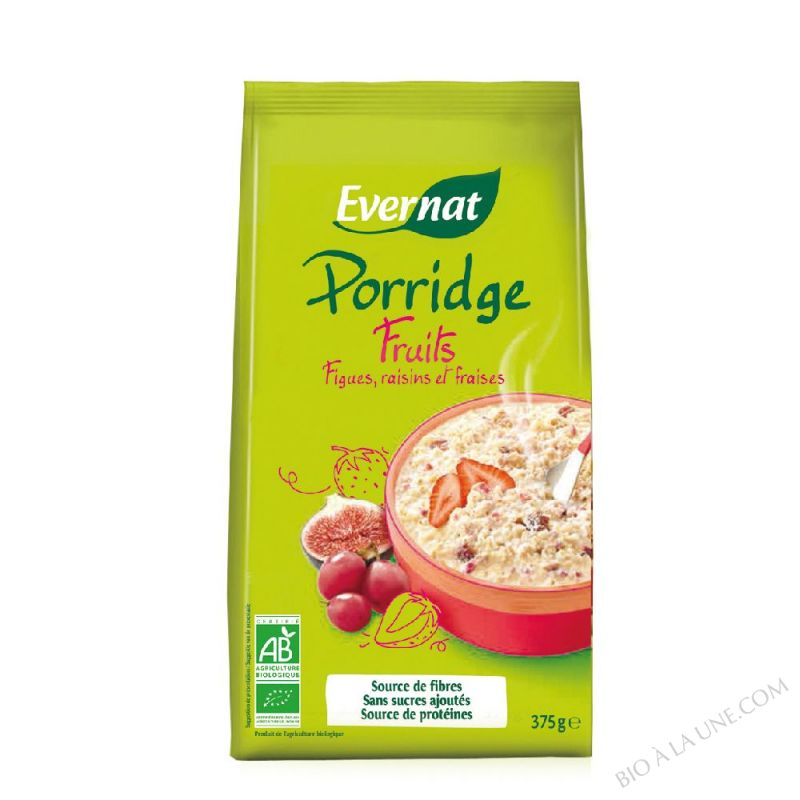 Porridge Aux Fruits bio 375g