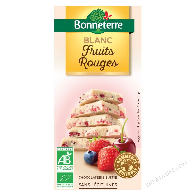 Chocolat Blanc Fruits Rouges 100gr