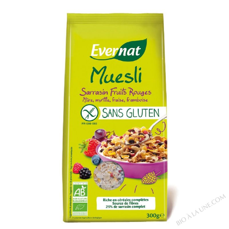 Muesli Sarrasin Fruits Rouges Sans Gluten 300gr