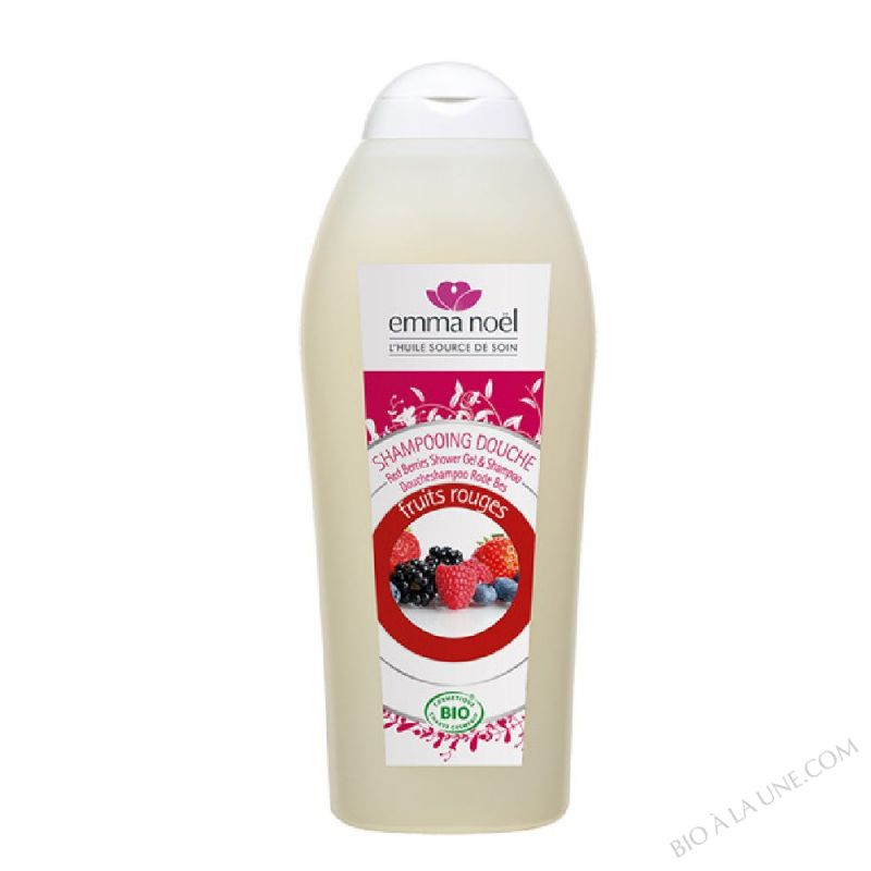 Shampooing douche fruits rouges cosmebio - 750mL