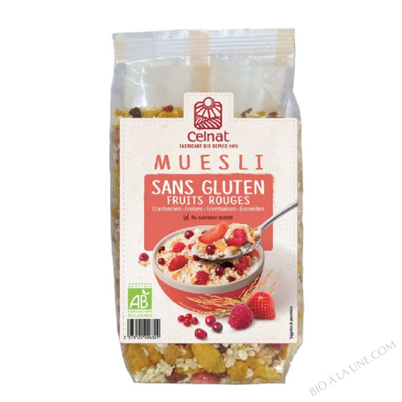 Muesli Fruits Rouge Sans Gluten - 375 G