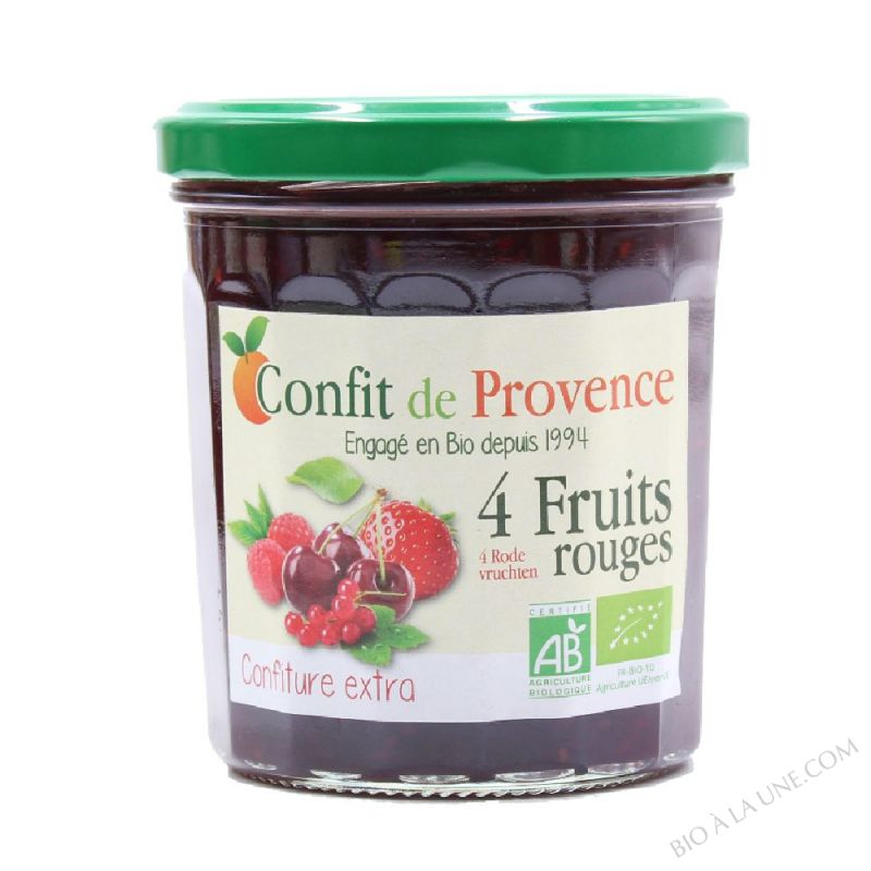 CONFITURE DE 4 FRUITS ROUGES - 370G