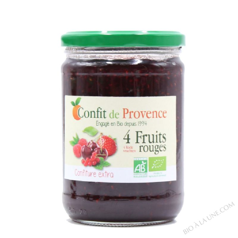 Confiture Extra 4 Fruits Rouges BIO 650g