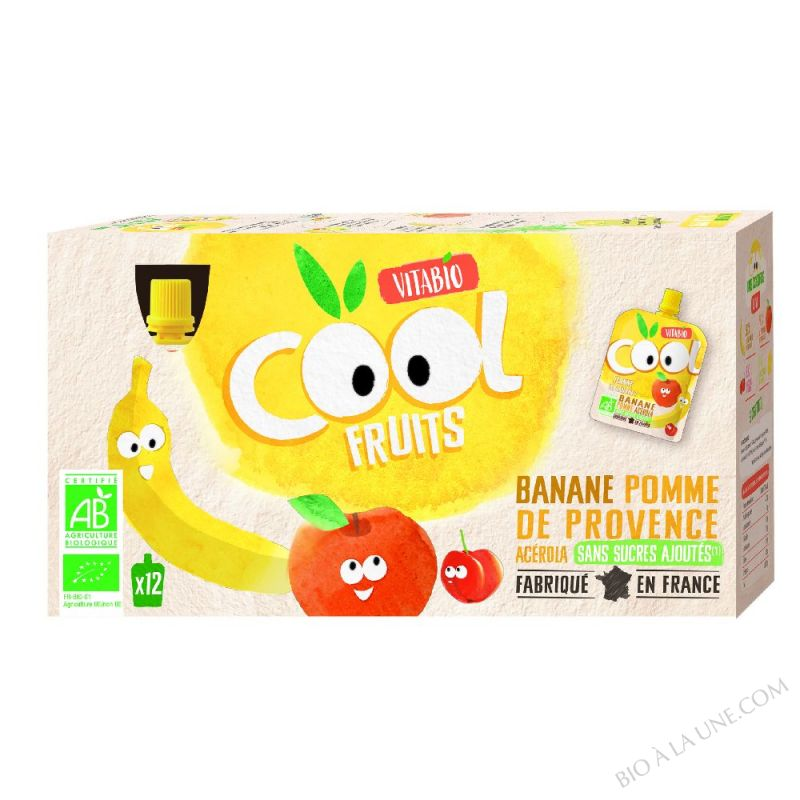 Cool Fruits Pomme Banane -  - 12x90g