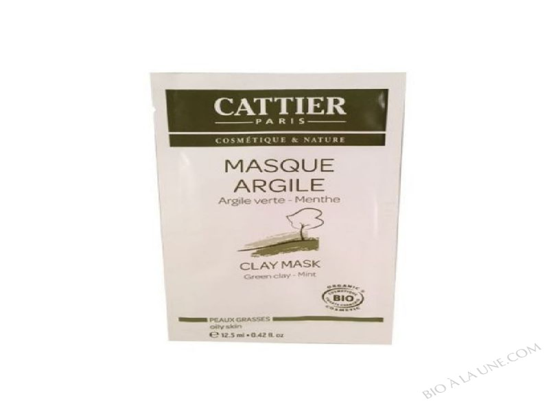 masque argile argile verte menthe 12 5 ml cattier bio la une. Black Bedroom Furniture Sets. Home Design Ideas