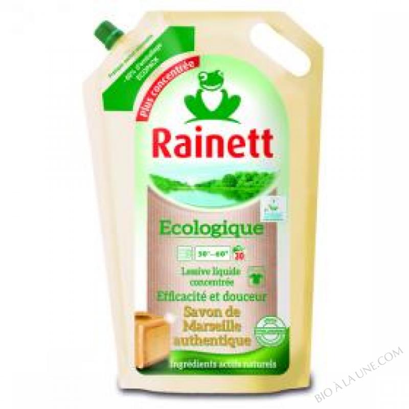 Recharge lessive ecologique savon de marseille rainett bio la une - Composition savon de marseille ...