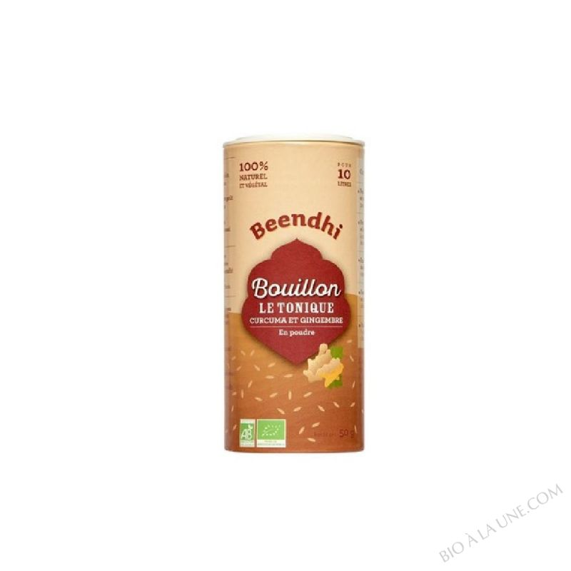 BOUILLON LE TONIQUE CURCUMA GINGEMBRE - 50G