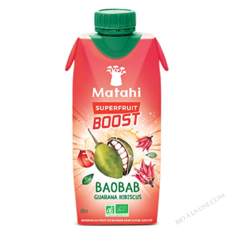 Boost Baobab Guarana Hibiscus - 33cl