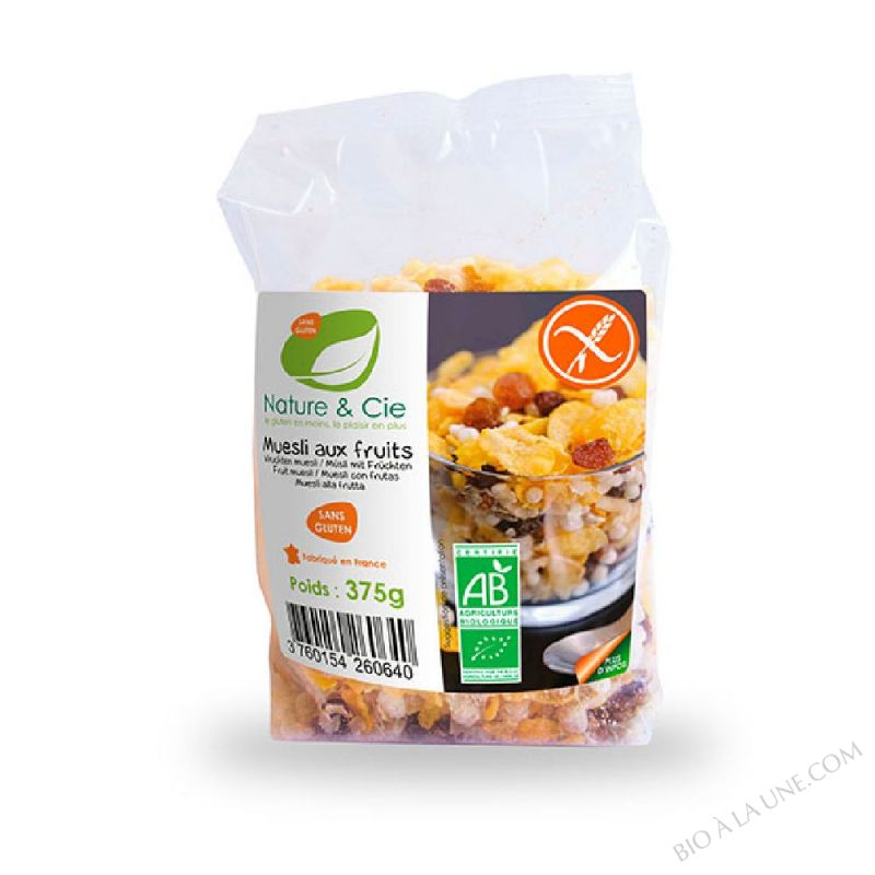 MUESLI AUX FRUITS - 375G NATURE & COMPAGNIE
