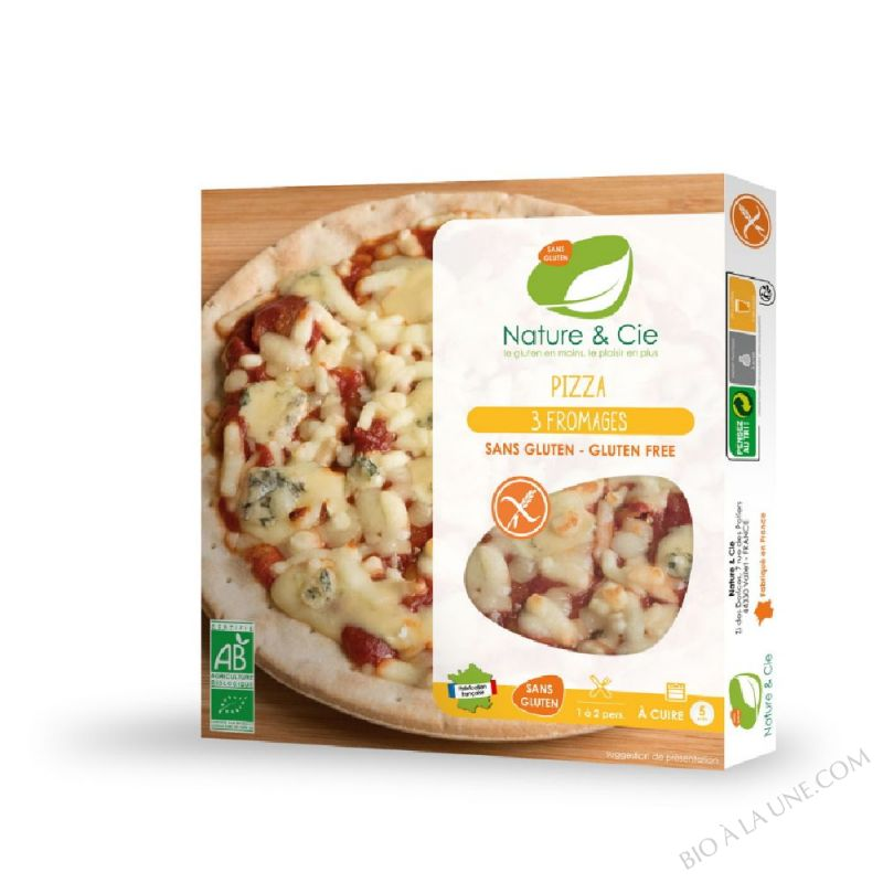 PIZZA 3 FROMAGES SANS GLUTEN - 230 G NATURE ET COMPAGNIE