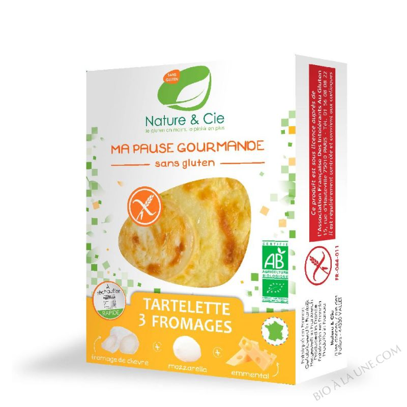 TARTELETTES AUX 3 FROMAGES - 110G NATURE & COMPAGNIE
