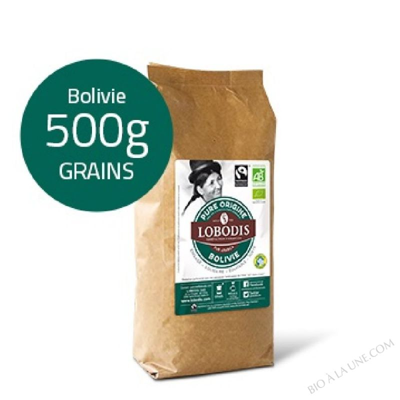 Café Grain BOLIVIE Arabica BIO Pure Origine - Lobodis - 500g