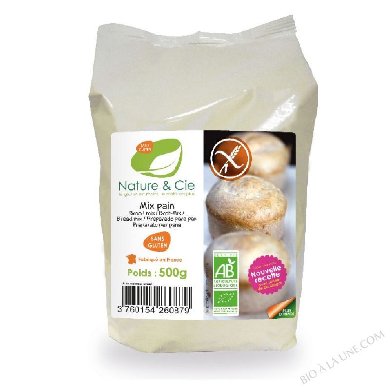 MIX PAIN SANS GLUTEN - 500G NATURE & COMPAGNIE