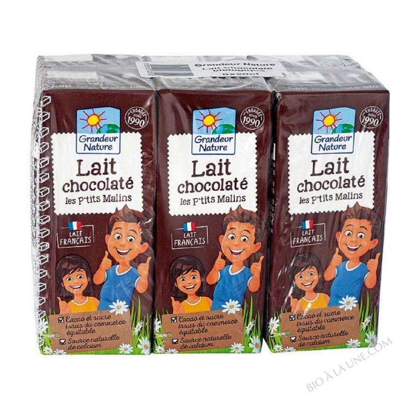 Lait U.H.T chocolate, demi-ecreme 6x20cl