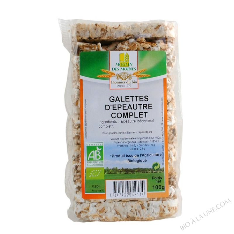 Galettes d'epeautre complet - 100g