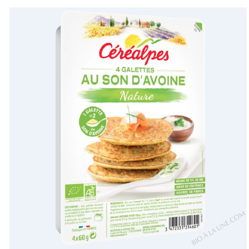 GALETTES AU SON D'AVOINE NATURE - 4 X 60 G