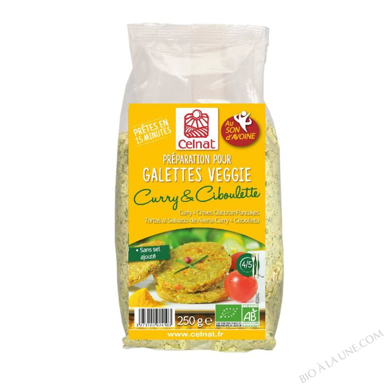 GALETTINES AVOINE CURRY CIBOULETTE 250G CELNAT