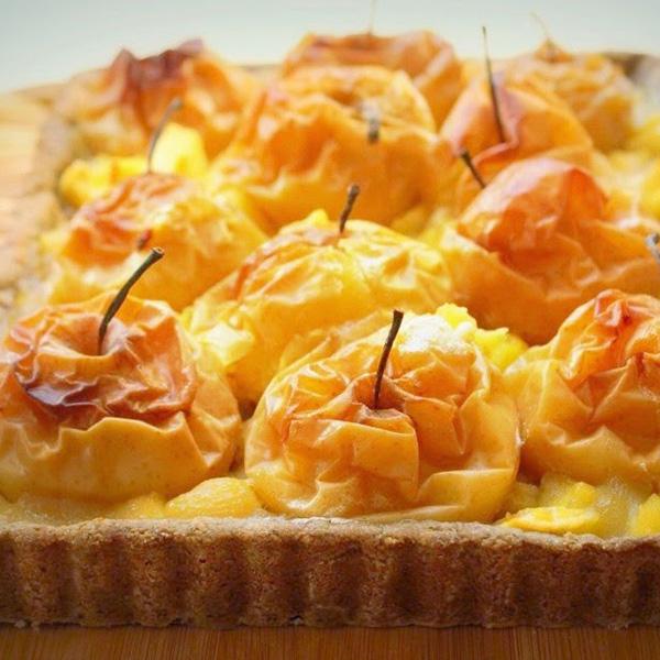 Tarte aux pommes au four bienvenue chez spicy recette - Tarte aux pommes compote maison ...