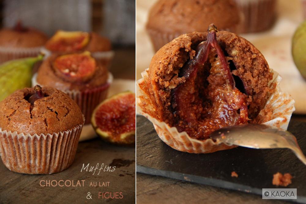 muffins chocolat au lait figues recette bio bio la une. Black Bedroom Furniture Sets. Home Design Ideas