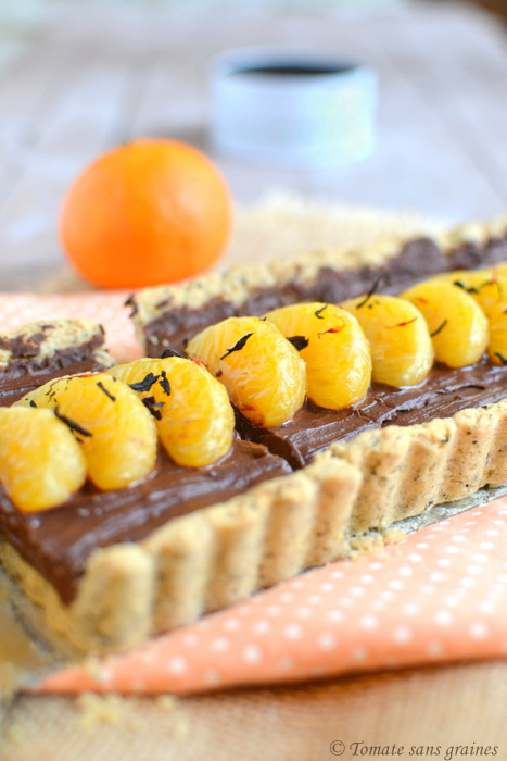 tarte la mousse au chocolat th bergamote et mandarine recette bio bio la une. Black Bedroom Furniture Sets. Home Design Ideas