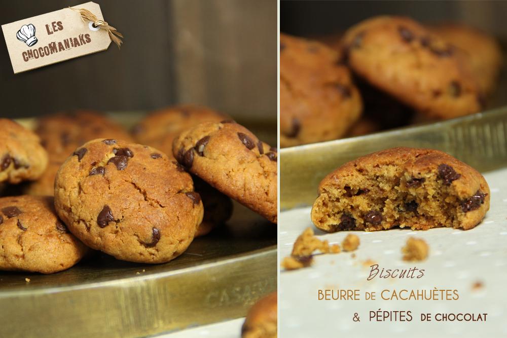 biscuits beurre de cacahu tes p pites de chocolat. Black Bedroom Furniture Sets. Home Design Ideas