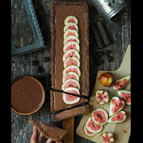 tarte crue la mousse au chocolat et au tofu ecomil recette bio bio la une. Black Bedroom Furniture Sets. Home Design Ideas