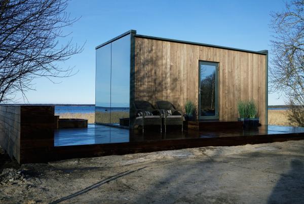 La Maison Du Miroir tiny house : une maison miroir pour vivre en fusion avec la nature